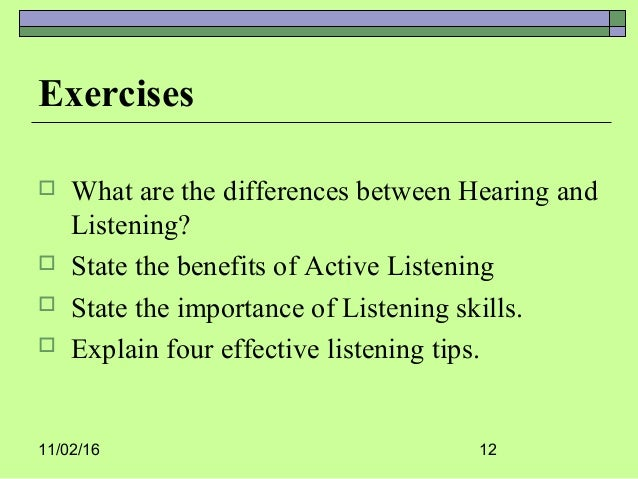 which is not an example of poor listening habits