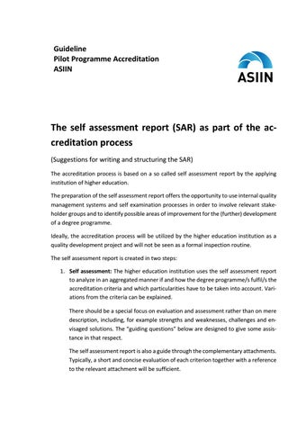 how to write a self assessment report example