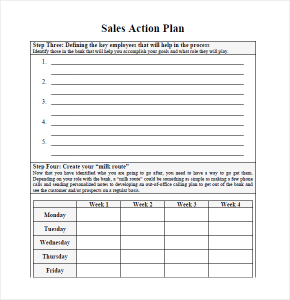 sales and marketing action plan example