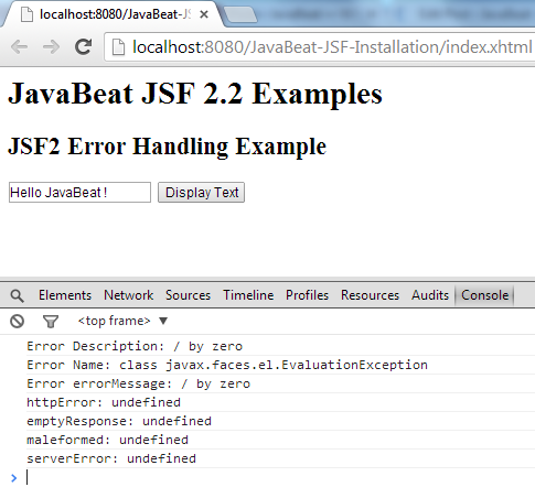 ajax form error handling example