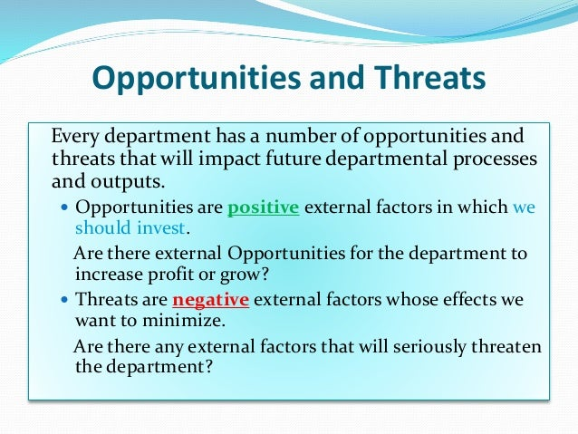 swot analysis example it department