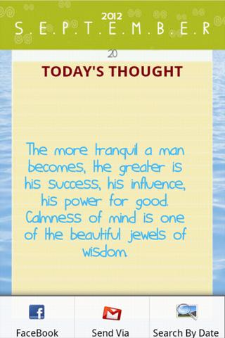 example of thought for the day with explanation