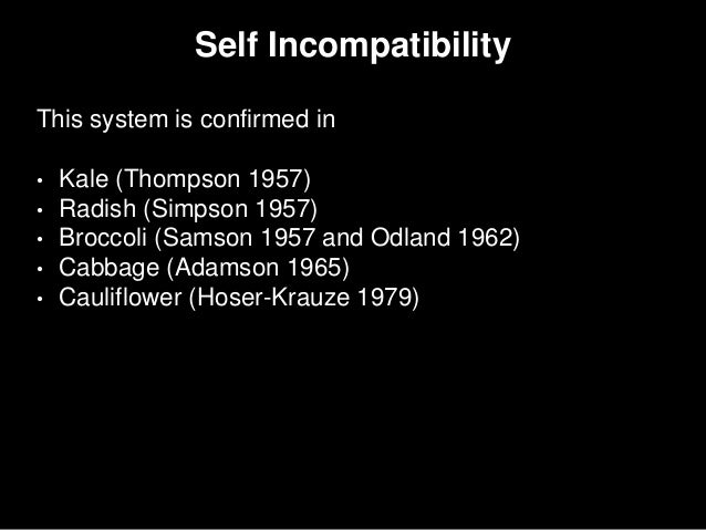 incompatible alleles in hybrids is an example of