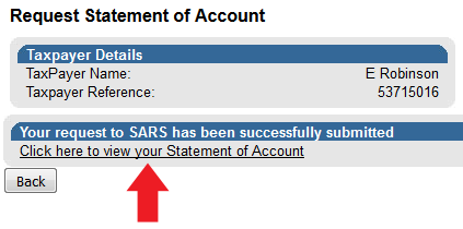 sars statement of account example