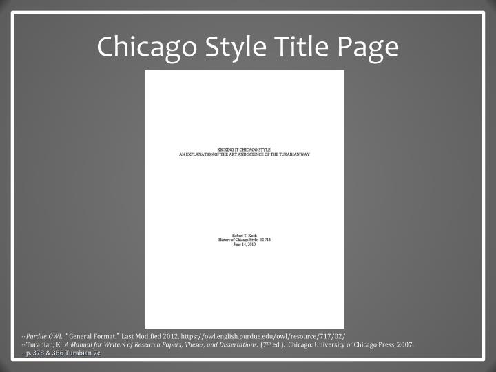 chicago manual of style title page example purdue