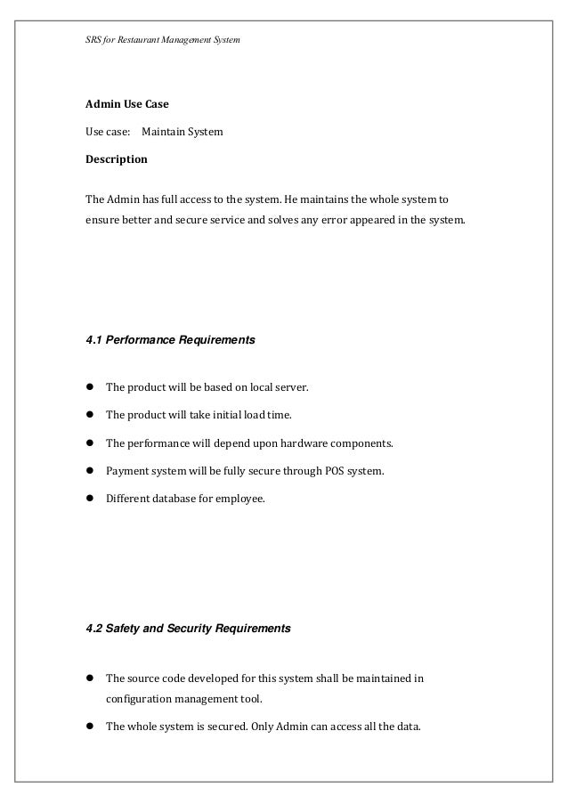 software requirements specification use case example