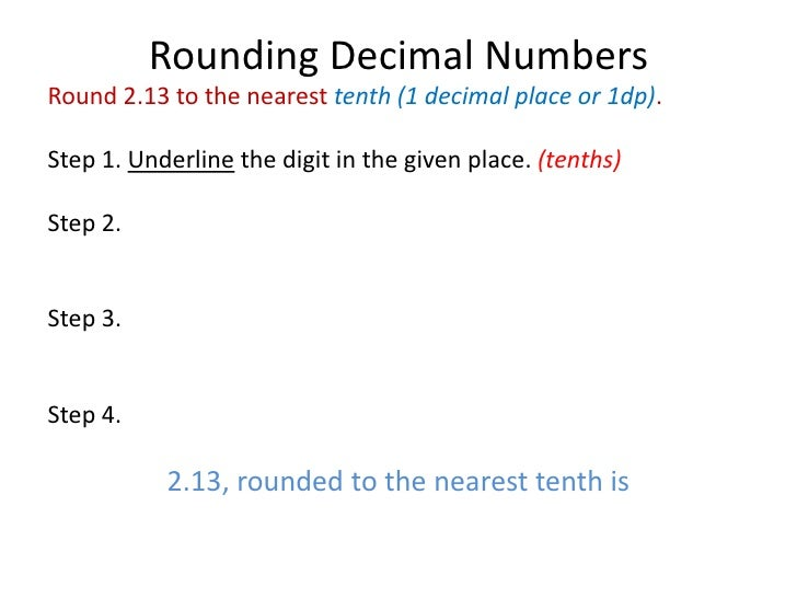 round to the nearest tenth example