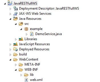 simple rest web service example in java using eclipse
