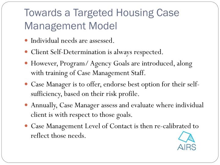 targeted case management service plan example