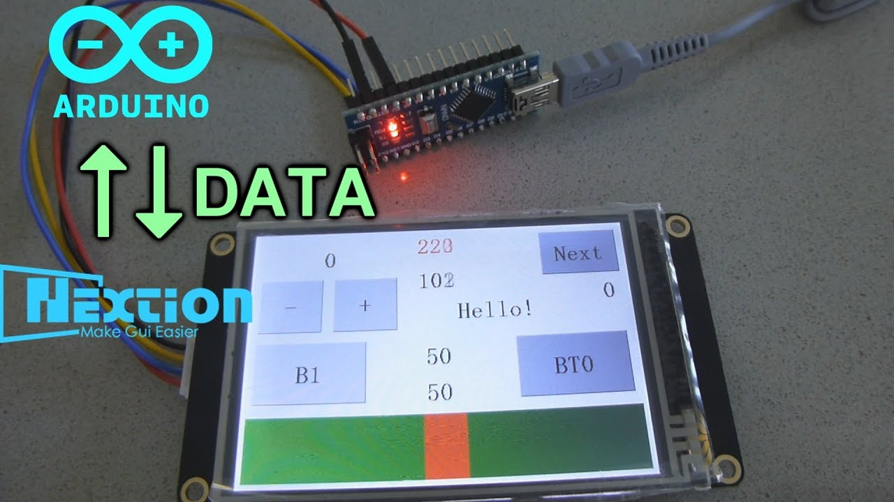 example code arduino lcd display without library