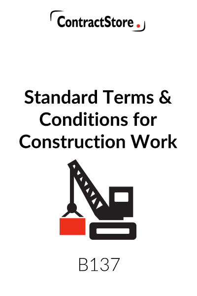 example of payment terms and conditions for construction job
