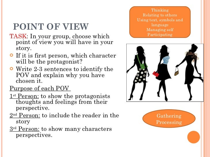 first person point of view example sentences
