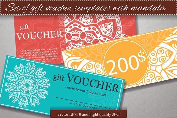 good example of a gift voucher