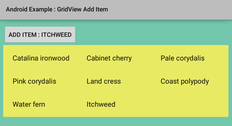 gridview example in android androidhive