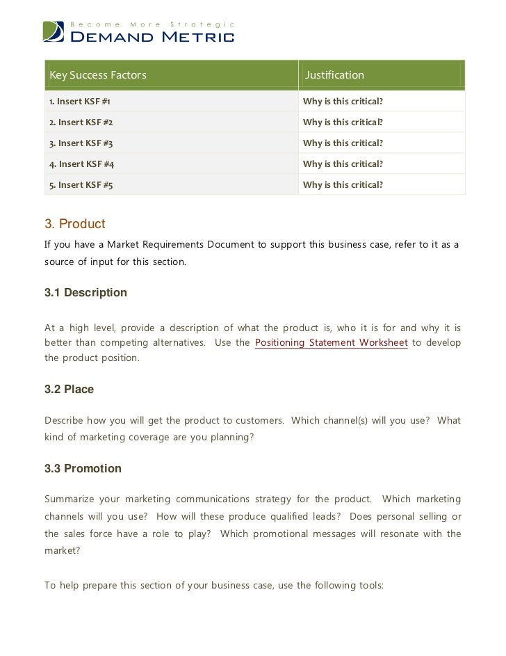 high level business requirements document example