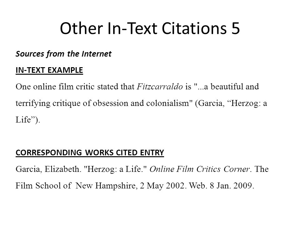 mla in text citation website no author example