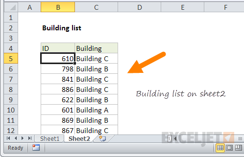 vlookup column from another sheet example