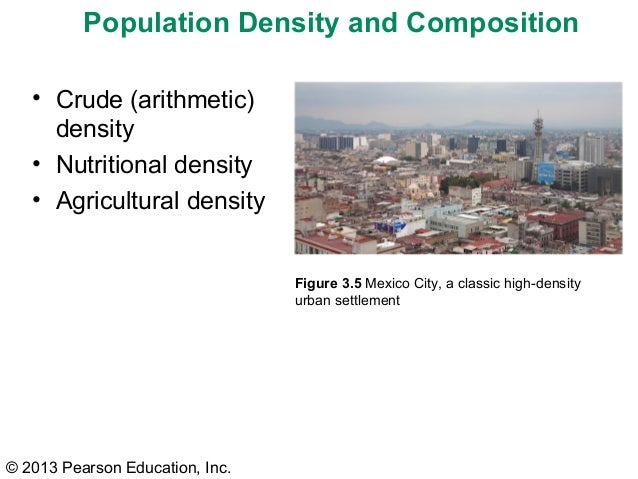 what is an example of arithmetic population density